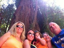 Hann dad mom aunt Jax cousin Caylan at redwoods