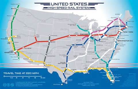 MAP OF HSR IN US
