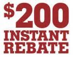 $200 REBATE