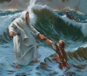 CHRIST SAVING DROWNING MAN