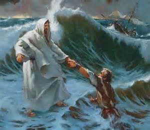 CHRIST SAVING DROWNING MAN