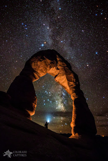 Milky Way Illumination At Delicate Arch-Display
