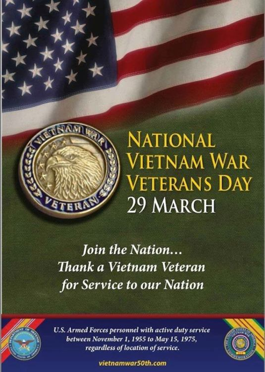 1NATIONAL VIETNAM WAR VETERANS DAY
