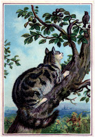 Vintage-Cat-in-Tree-Image-GraphicsFairy