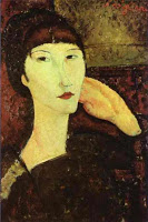 Adrienne-Woman-With-Bangs-1917-Amedeo-Modigliani-oil-painting